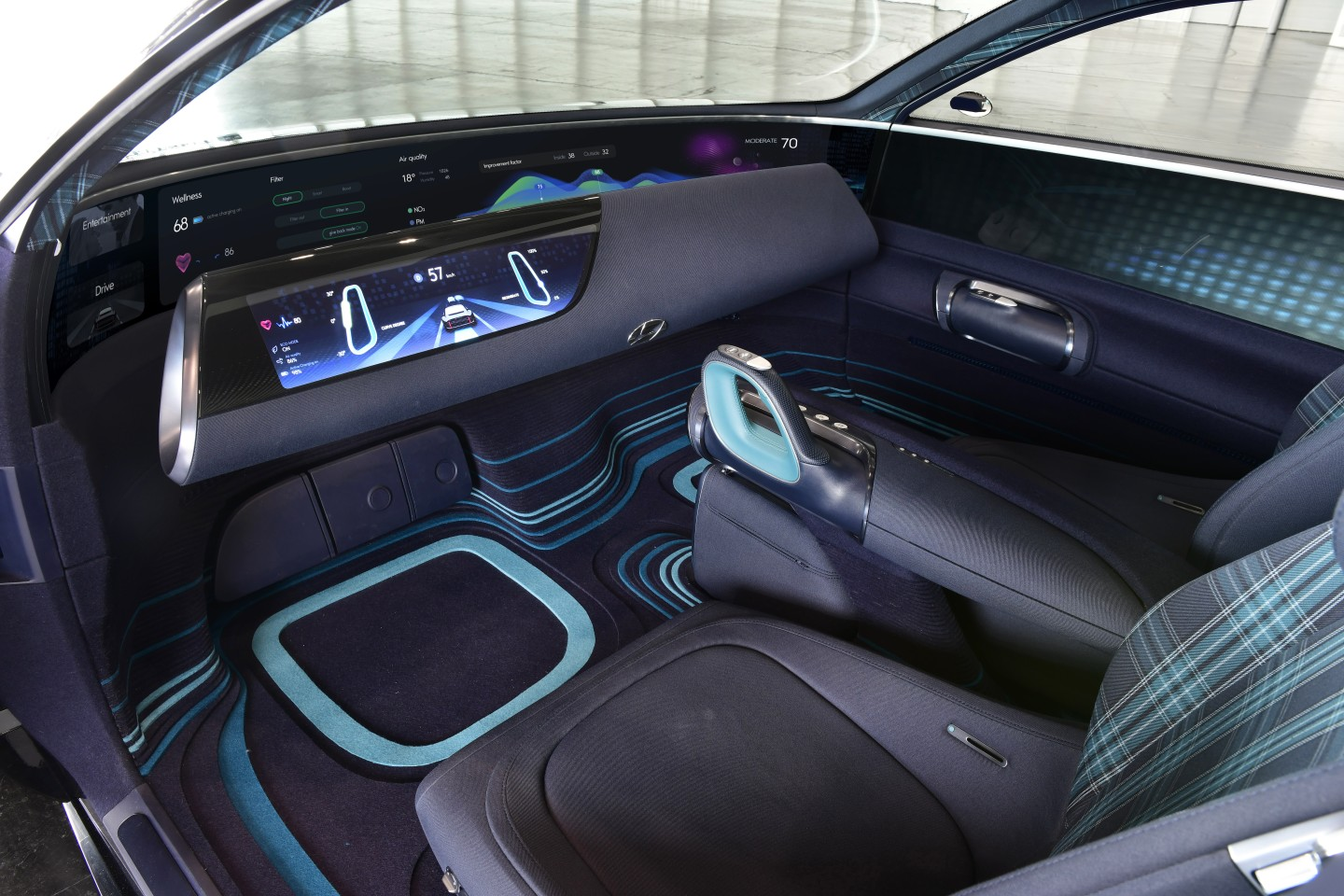 The interior is not like any car you've seen before
