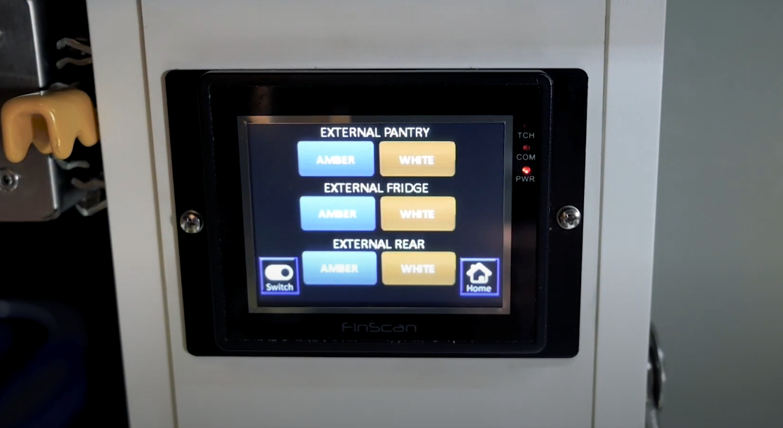 Sierra ZR campers can use the touchscreen or accompanying app to switch the lights on and off