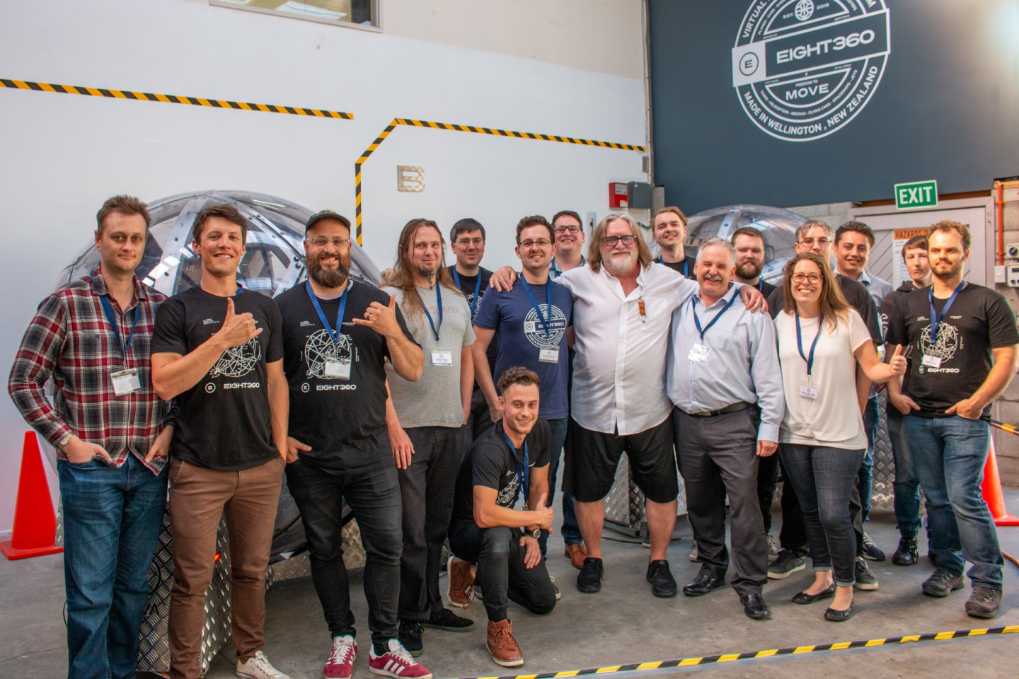 The Eight360 team was just a touch stoked when Valve's Gabe Newell dropped by to check out the Nova system