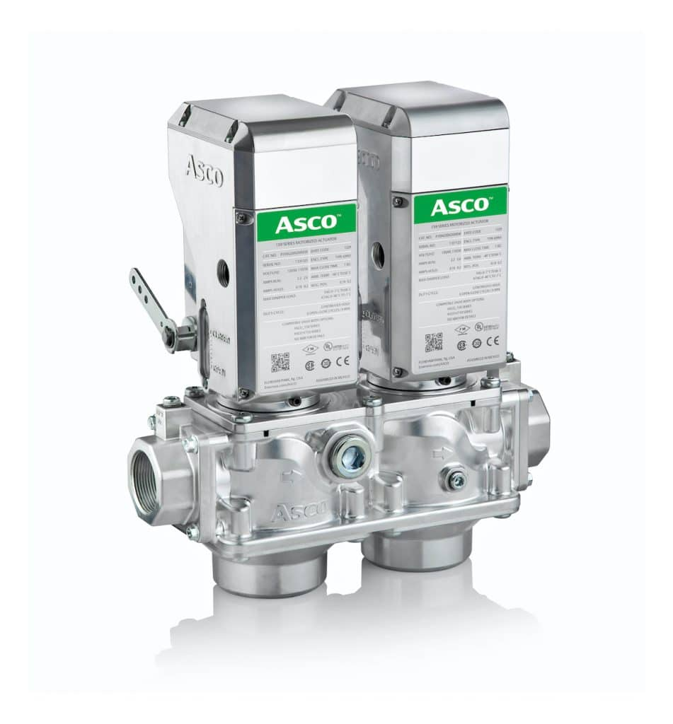 The ASCO Series 158 Gas Valve and Series 159 Motorized Gas Actuator completes the company's IIoT-enabled Global Combustion System for the industrial/commercial market.
