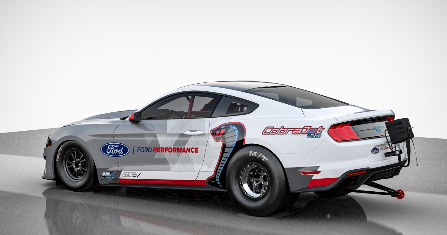Ford estimates a quarter-mile time in the low eight seconds at 170 mph