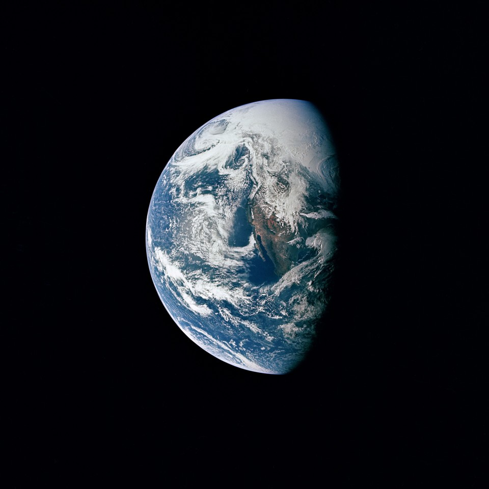 The Earth as seen from Apollo 13