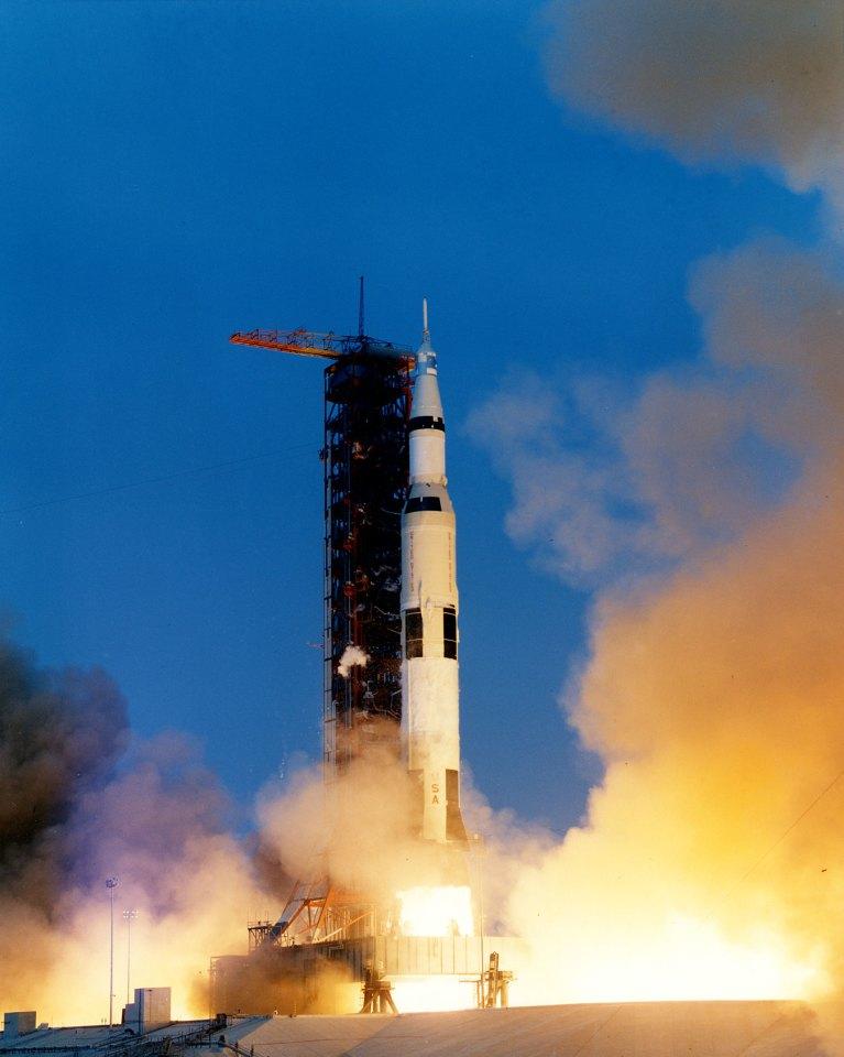 Apollo 13 lifting off