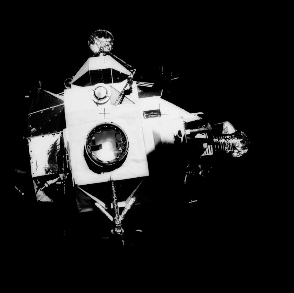The lunar module Aquarius
