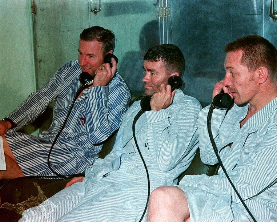 The Apollo 13 crew were in reasonable condition despite their ordeal