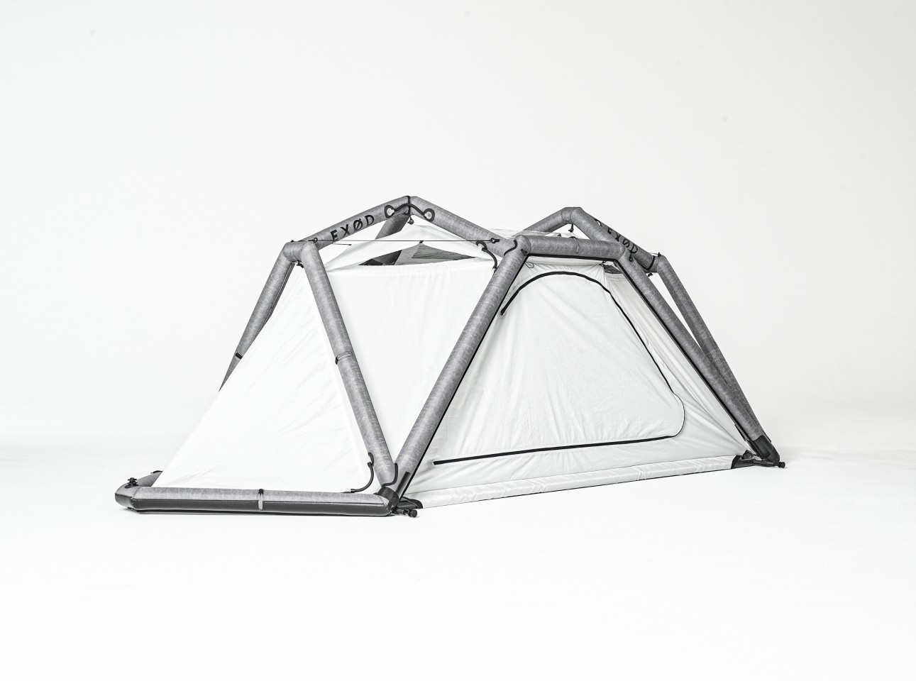 Exod plans to sell the Home just as a ground tent and as a full kit with hanging hardware