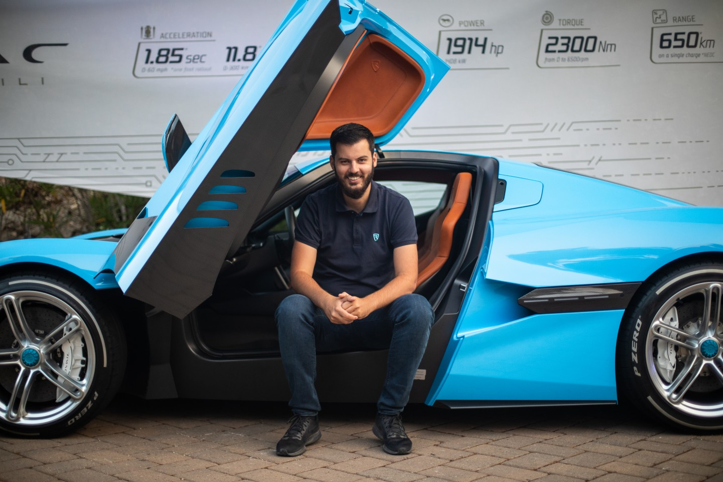 Mate Rimac with a C_Two prototype