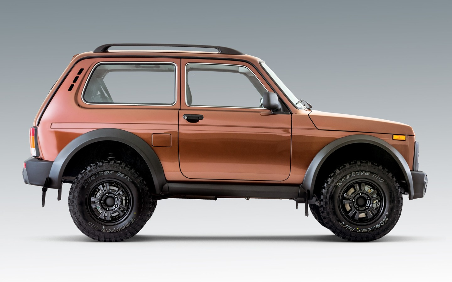 The Bronto is the factory-built off-road-focused version of the Lada 4x4, originally called the Niva