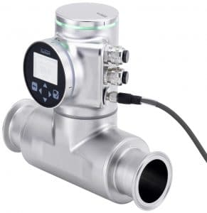The Type 8098 FLOWave flowmeter offers contactless, precision flow measurement, even in liquids with low or no conductivity.