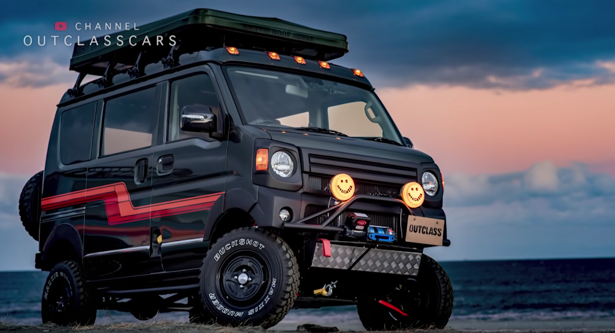 A suspension lift, ruggedized bumpers, skid protection and other upgrades make Outclass's Every a capable off-roader