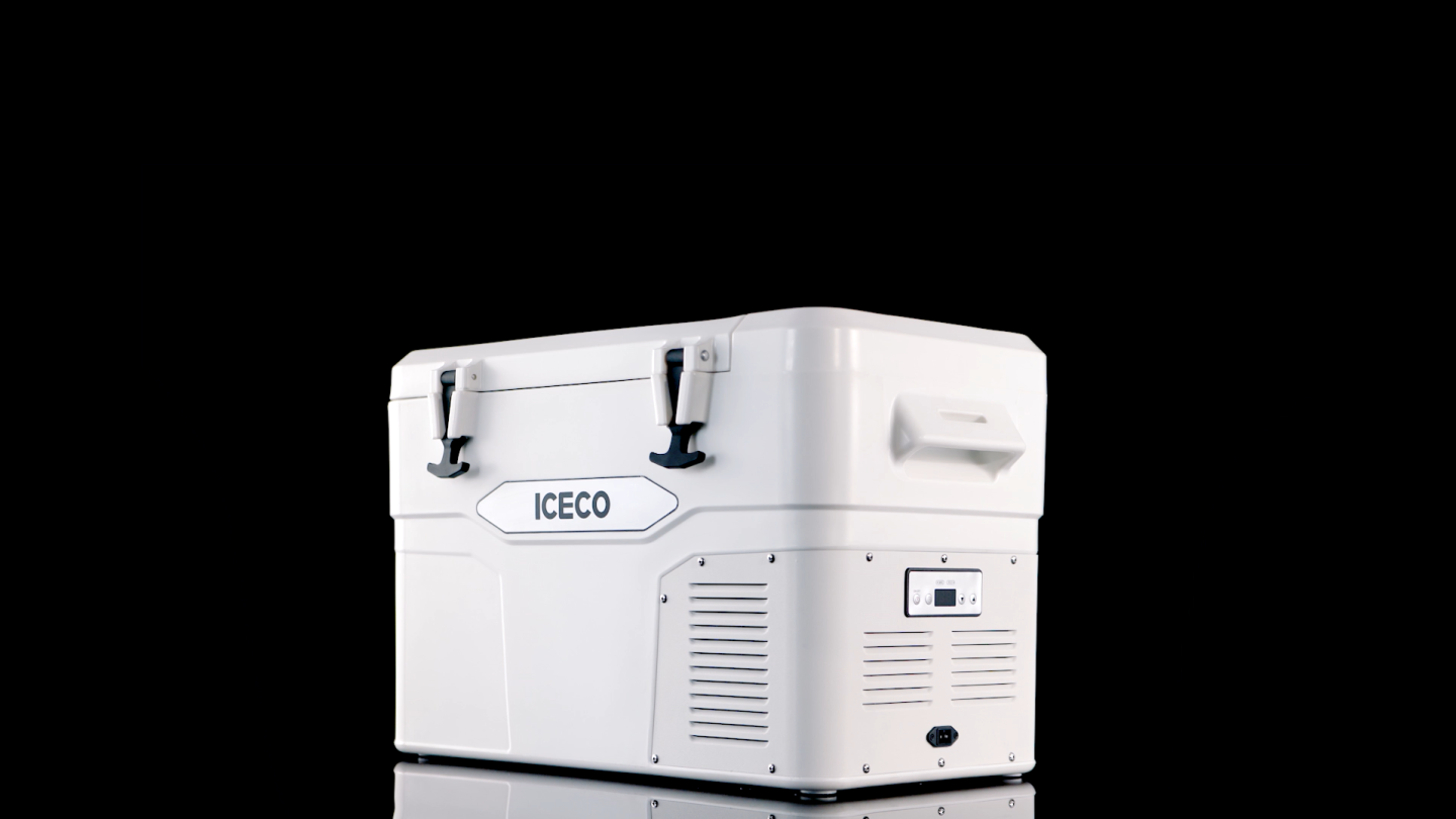 The Iceco iCooler has temperature controls on its side
