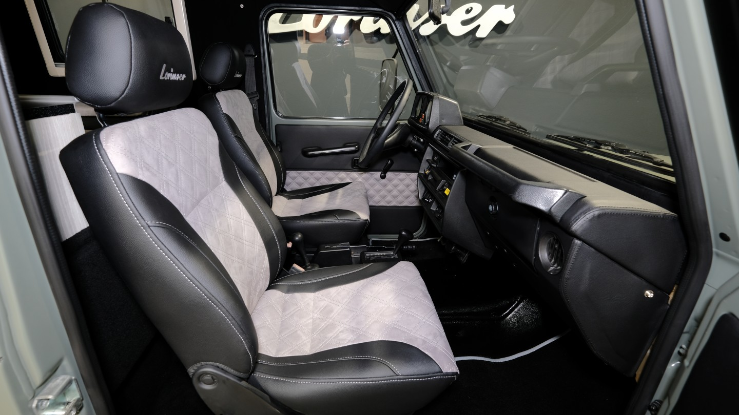 Most of Lorinser's work was in the back, but it did add leather upholstery and refurbish the