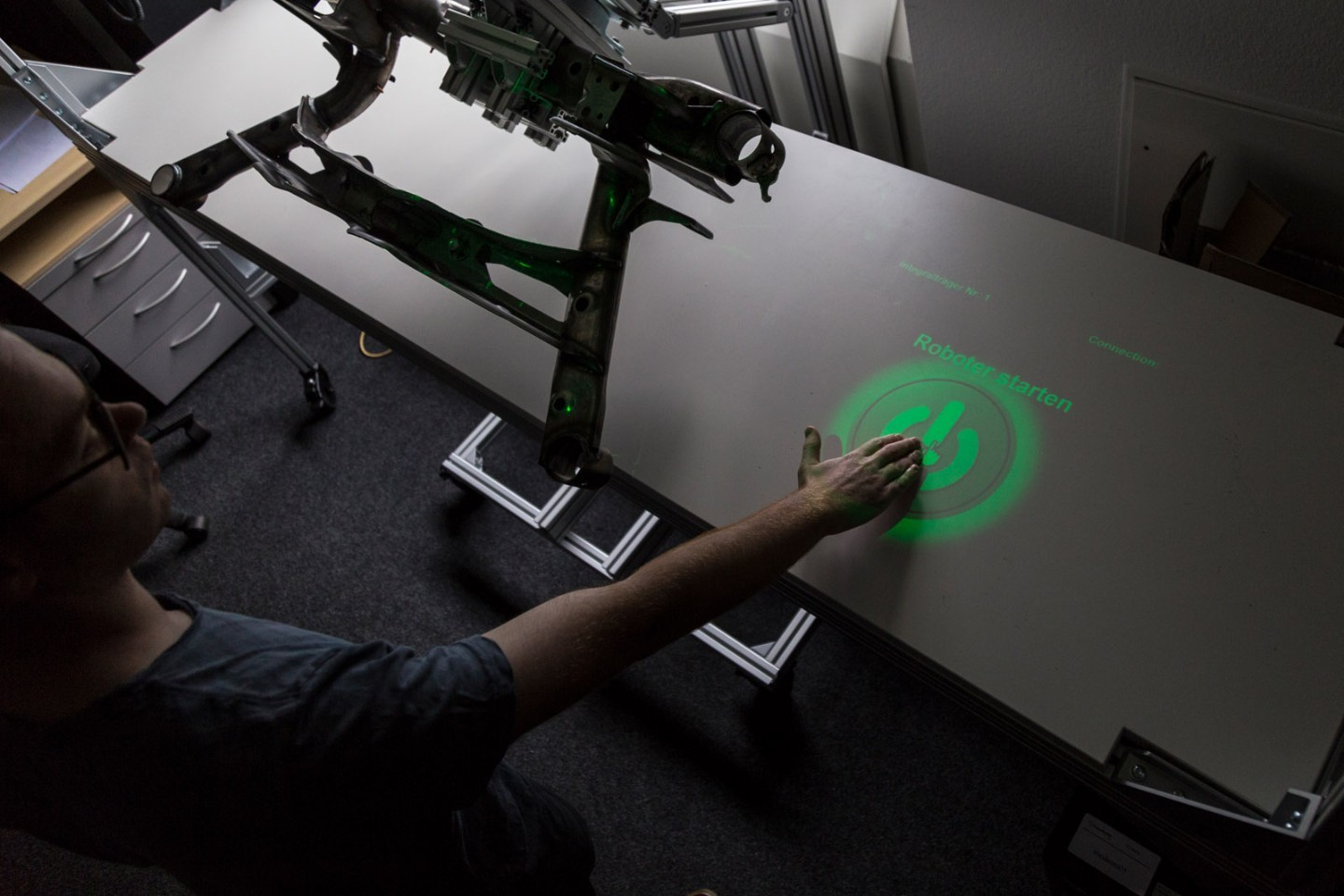 The system's gesture-recognition interface