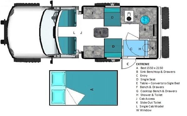 EarthCruiser Extreme floor plan