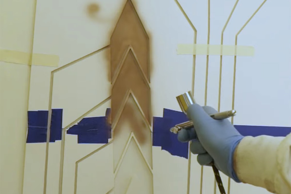 Conductive copper ink forms the basis of any design