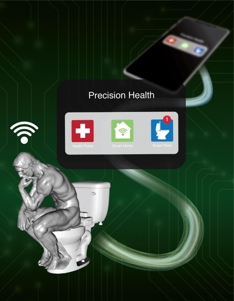 With further development, the Stanford team imagines that its smart toilet could work with an app to securely pass on data to the user's doctor when something seems awry