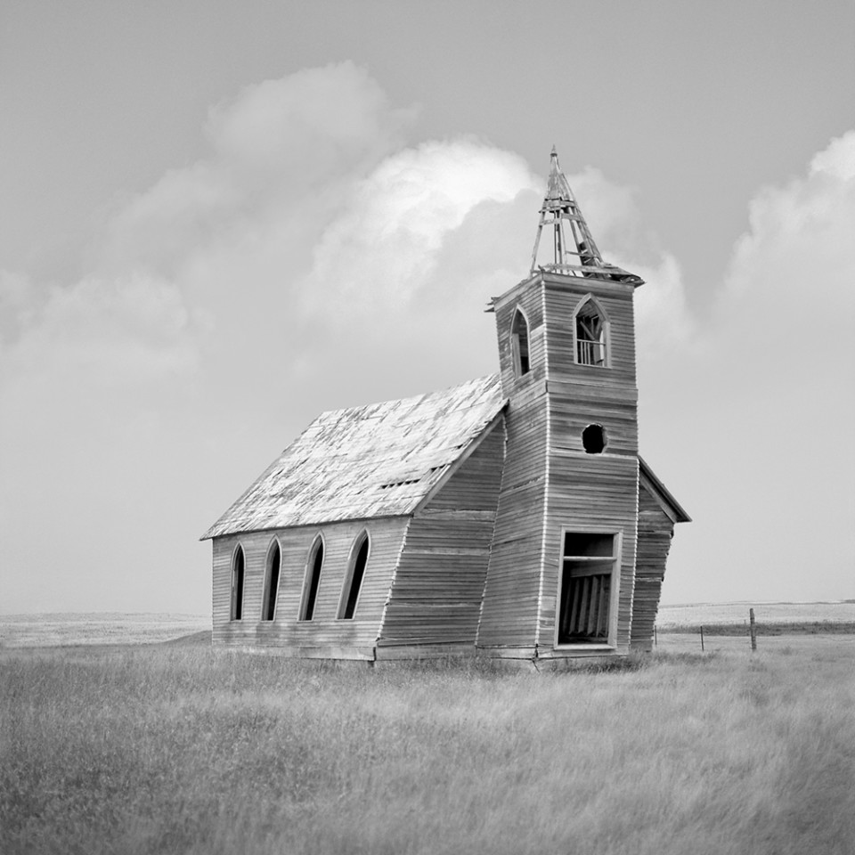 Nominee, Architecture, Professional. An abandoned and collapsing church in Dooley, Montana
