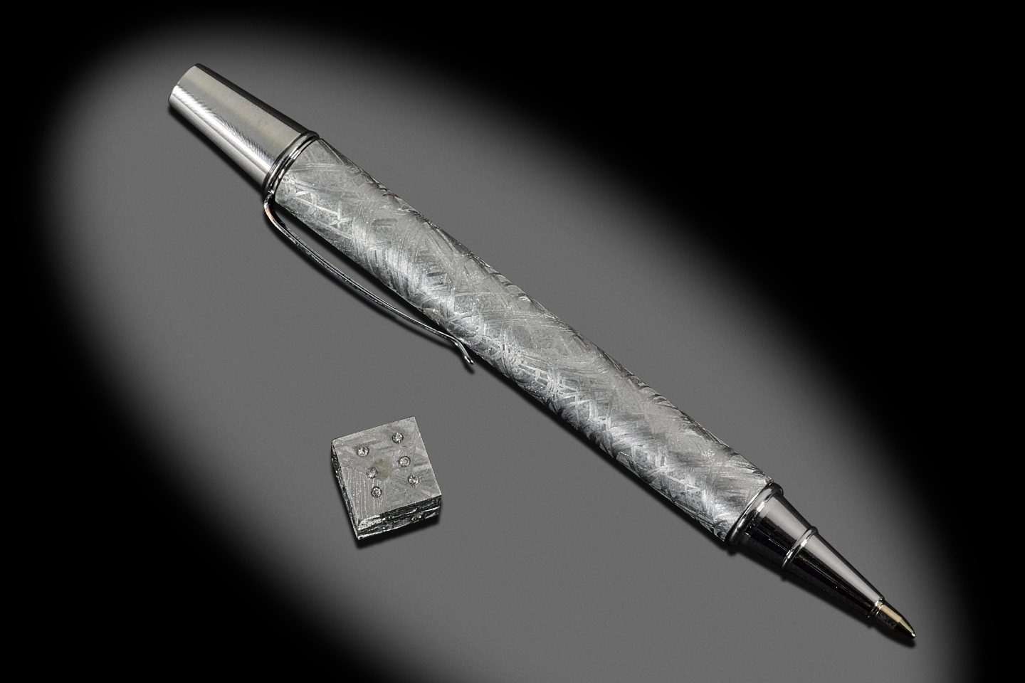 This one-off collectible pen was created from a single block of Muonionalusta meteorite.