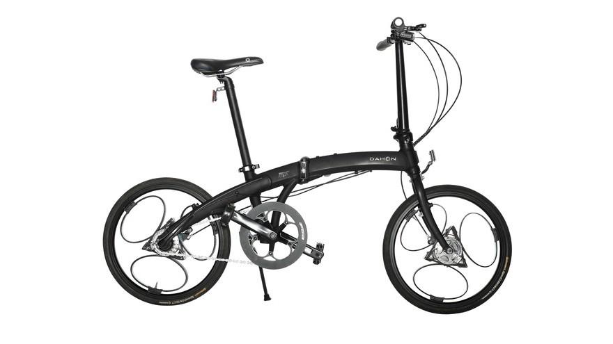 A set of Loopwheels, on a Dahon folding bike
