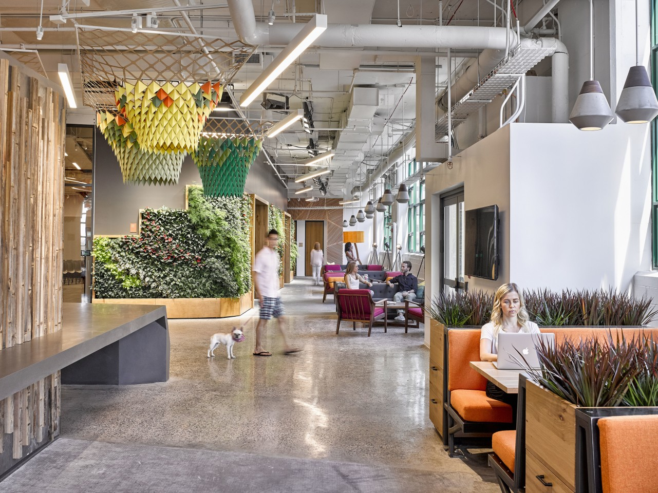 Etsy's new headquarters is located in Brooklyn, New York City, and was designed by Gensler