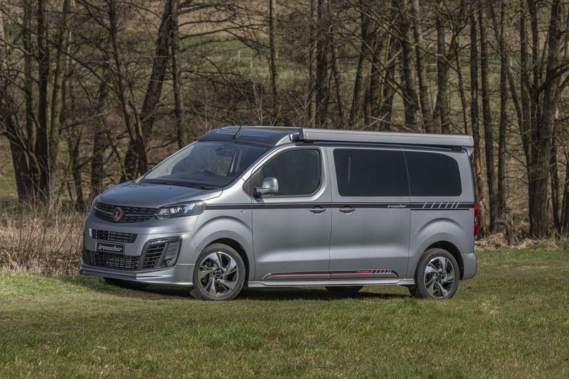 The available Irmscher kit gives the Vivaro Blighty a low, aggressive appearance