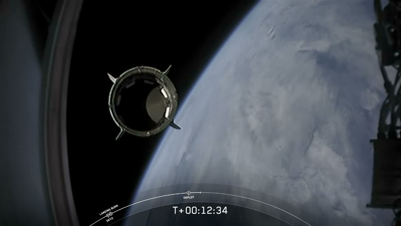 Demo-2 separating from the Falcon 9