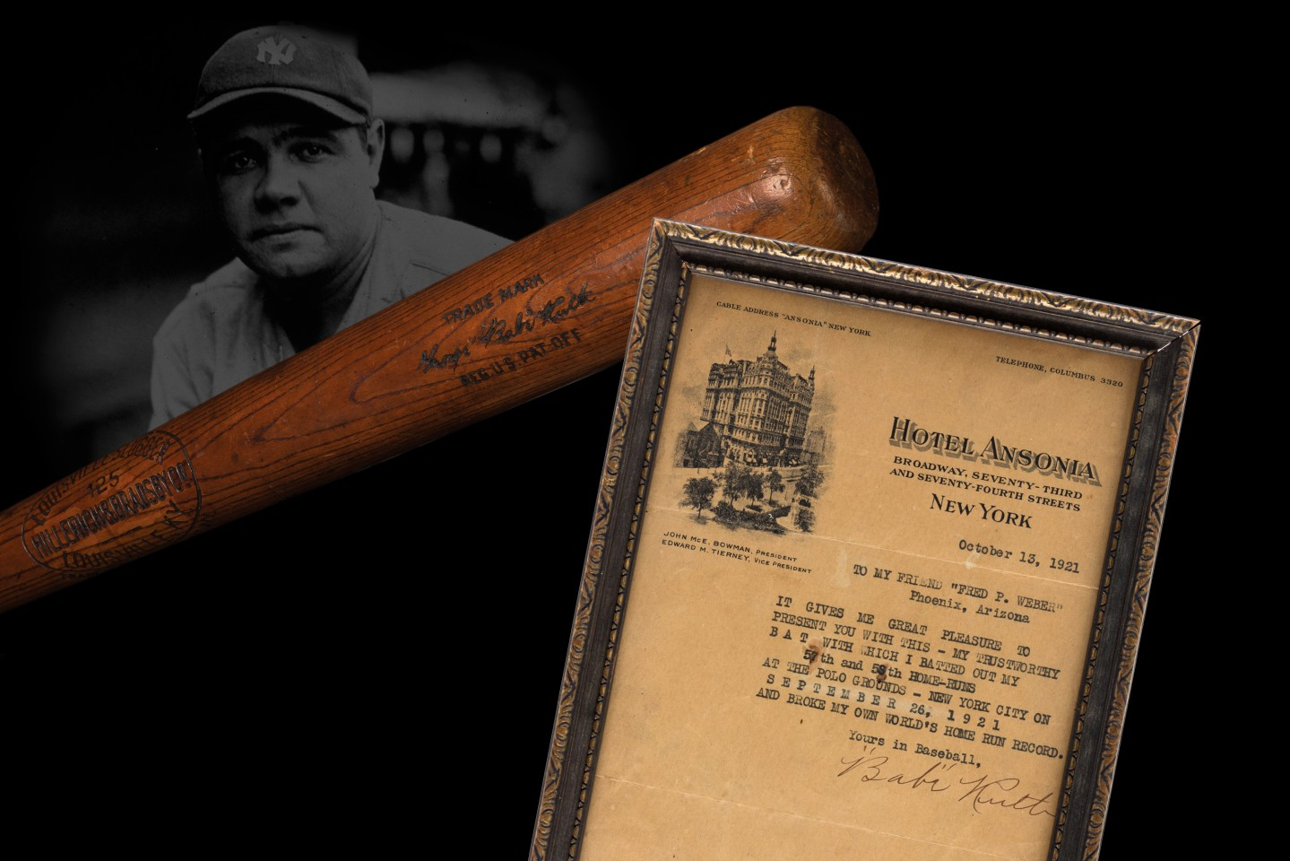 Babe Ruth 1921 Baseball Bat | Auction House: Heritage Auctions | Price fetched: $717,000 | Auctioned: February 22, 2015
