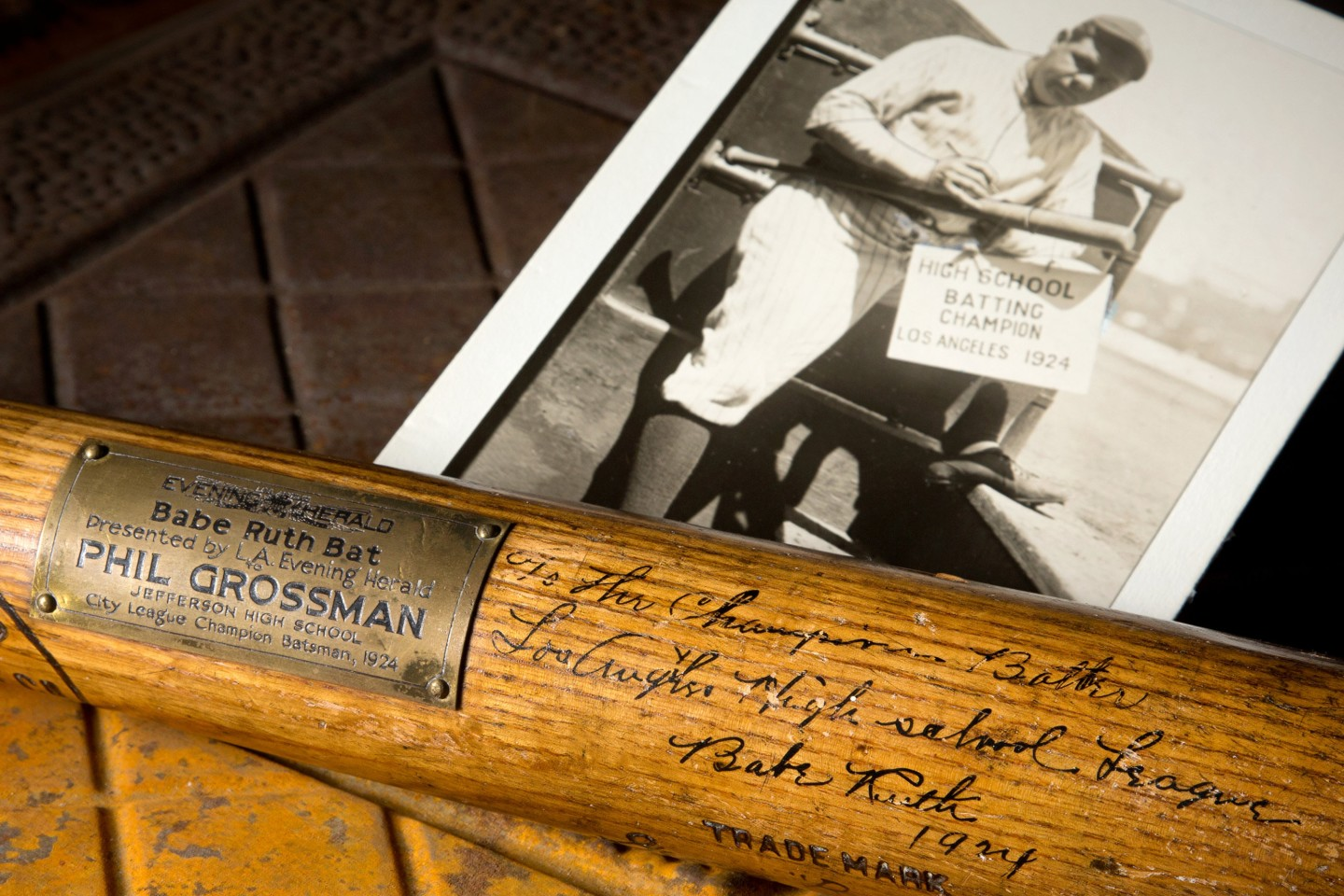 While this 1924 Babe Ruth Bat with which he hit the first home run of 1924 failed to sell, it had the highest reserve price of any baseball bat that has ever gone to auction $3.0 million) when it went to auction with Mears Auctions on December 1, 2018. The bat is signed by Babe Ruth and has an extraordinary provenance, ranted PSA/DNA GU 10.