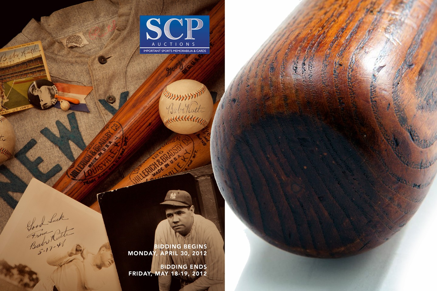 Babe Ruth 1927-28 Baseball Bat | Auction House: SCP Auctions | Price fetched: $591,007 | Auctioned: May 20, 2012