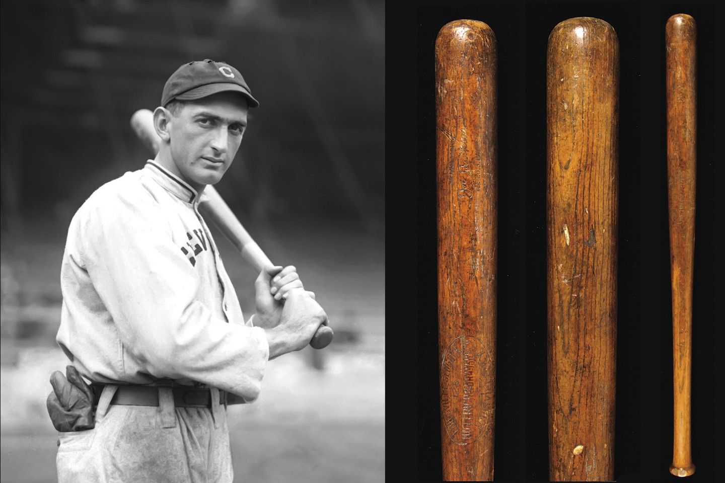 Joe Jackson c1919-20 Baseball Bat | Auction House: Hunt Auctions | Price fetched: $605,077 | Auctioned: February 2015