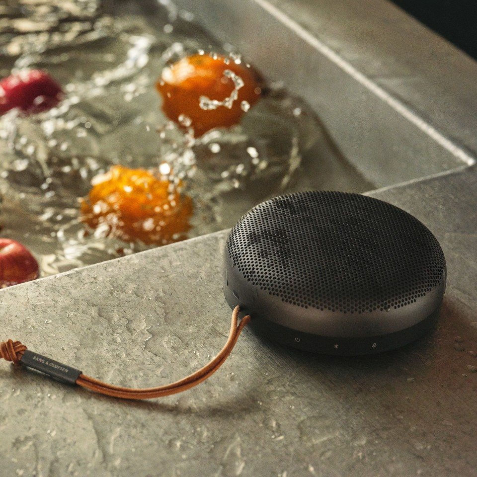 The Beosound A1 can survive the odd splash thanks to IP67 waterproofing