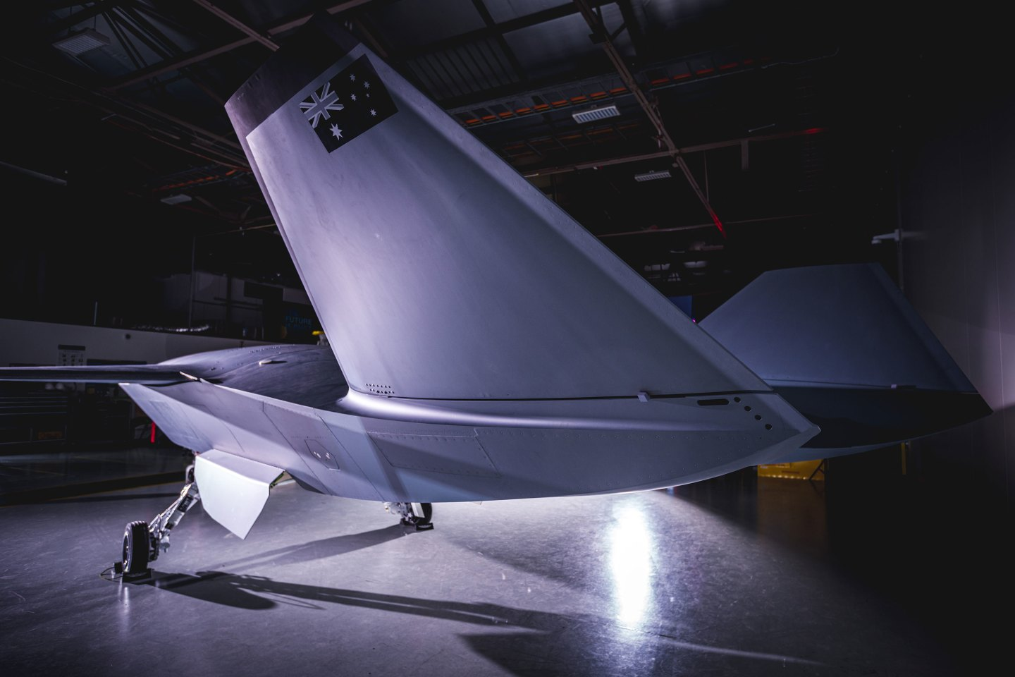The jet-powered Loyal Wingman is a 38-ft-long (11.7-m) combat drone aimed at the global market