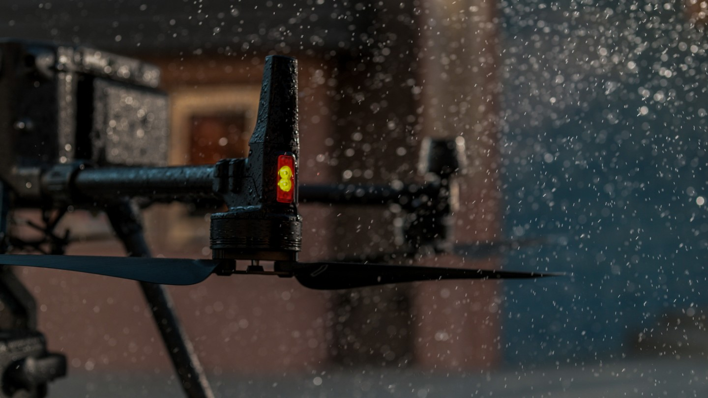 The Matrice 300 RTK's enclosure is IP45 weather resistant, and can operate in sub-zero conditions