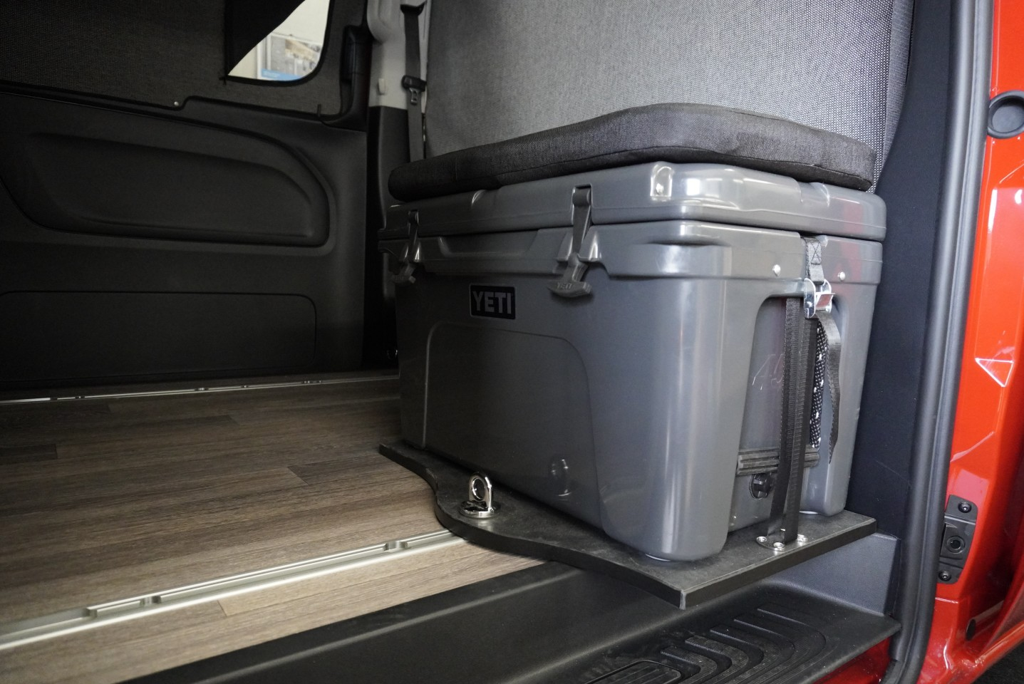 Not only does the available Yeti cooler offer always-useful cold storage, it doubles as an extra seat