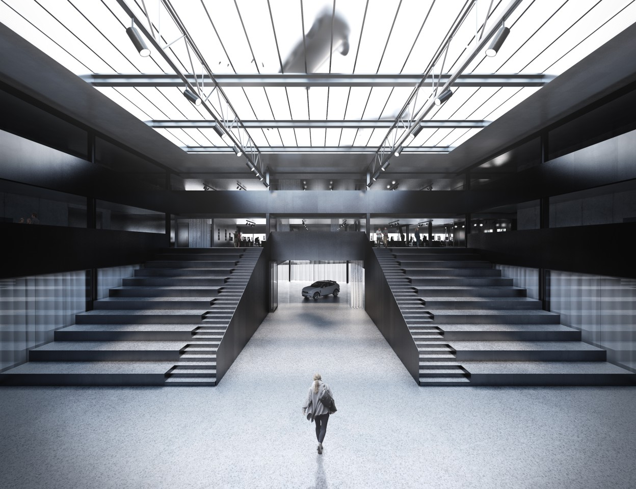The Geely Design Center's secretive design laboratory will have a partially glazed floor
