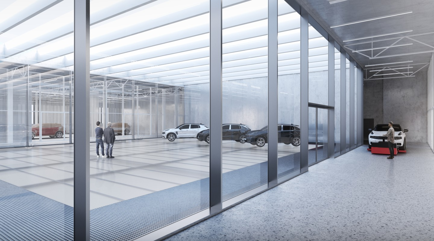 The Geely Design Center's interior will measure 14,000 sq m (roughly 150,500 sq ft), spread over four floors