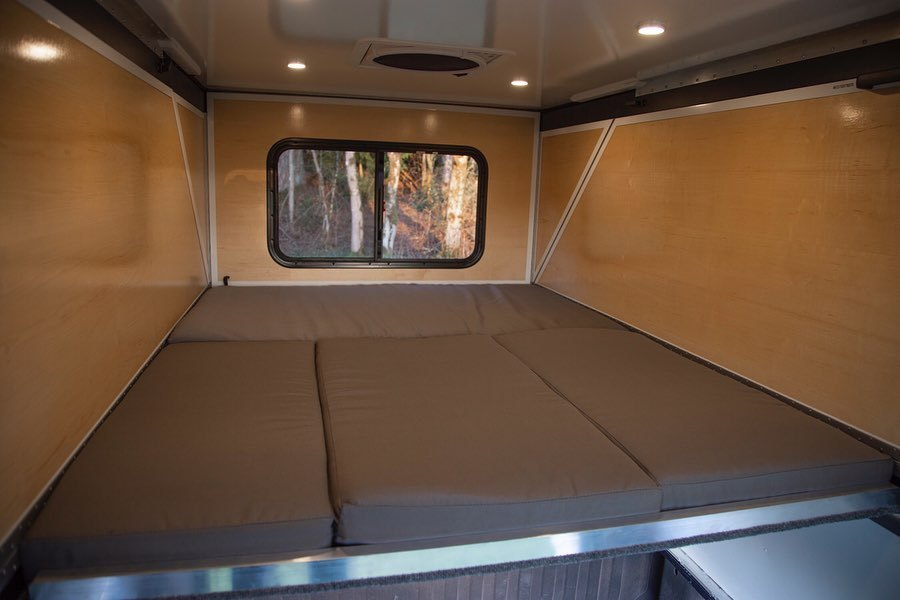 Every Hiatus Camper has a sleeping platform for two-person bed