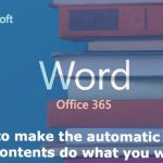 How to make the Microsoft Word automatic table of contents do what you want