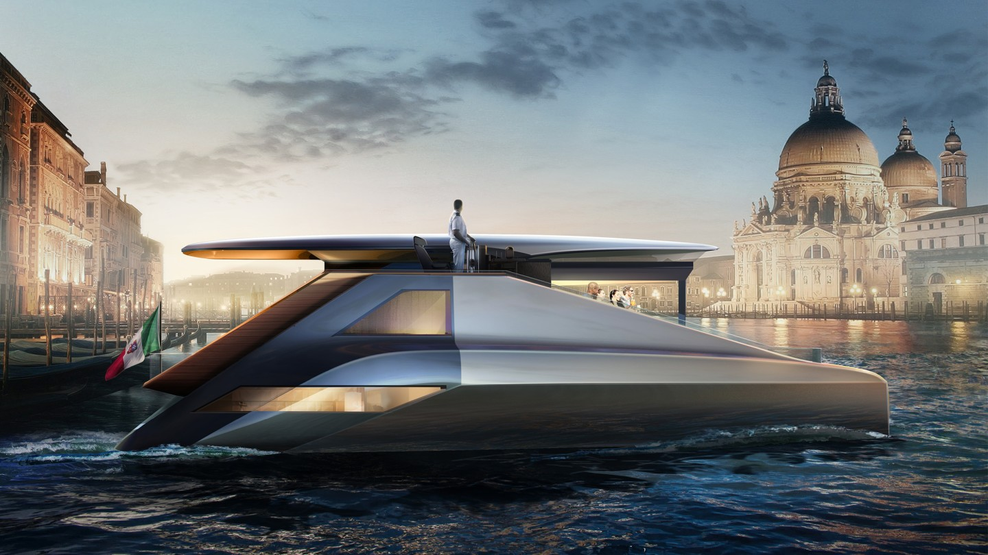 The Fibonacci is a 55-foot asymmetrical catamaran concept with 400 kW of electric propulsion