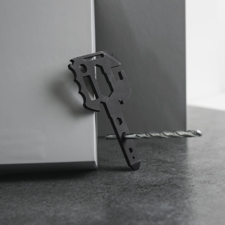 Like a lot of multitools that are designed to save on weight and size, the MultiKey has an array of holes carefully machined into the body that allow it to perform a range of functions