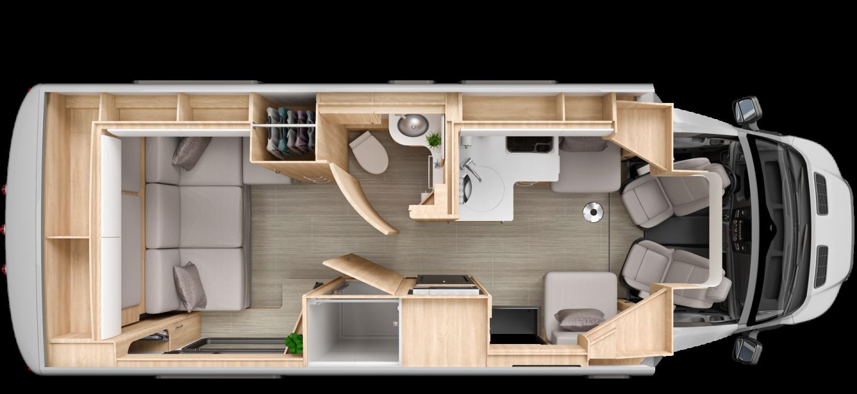 Leisure Travel Vans Wonder Rear Lounge