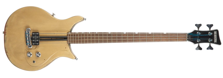 Bill Wyman's 1974 Dan Armstrong Prototype Bass – repainted gold