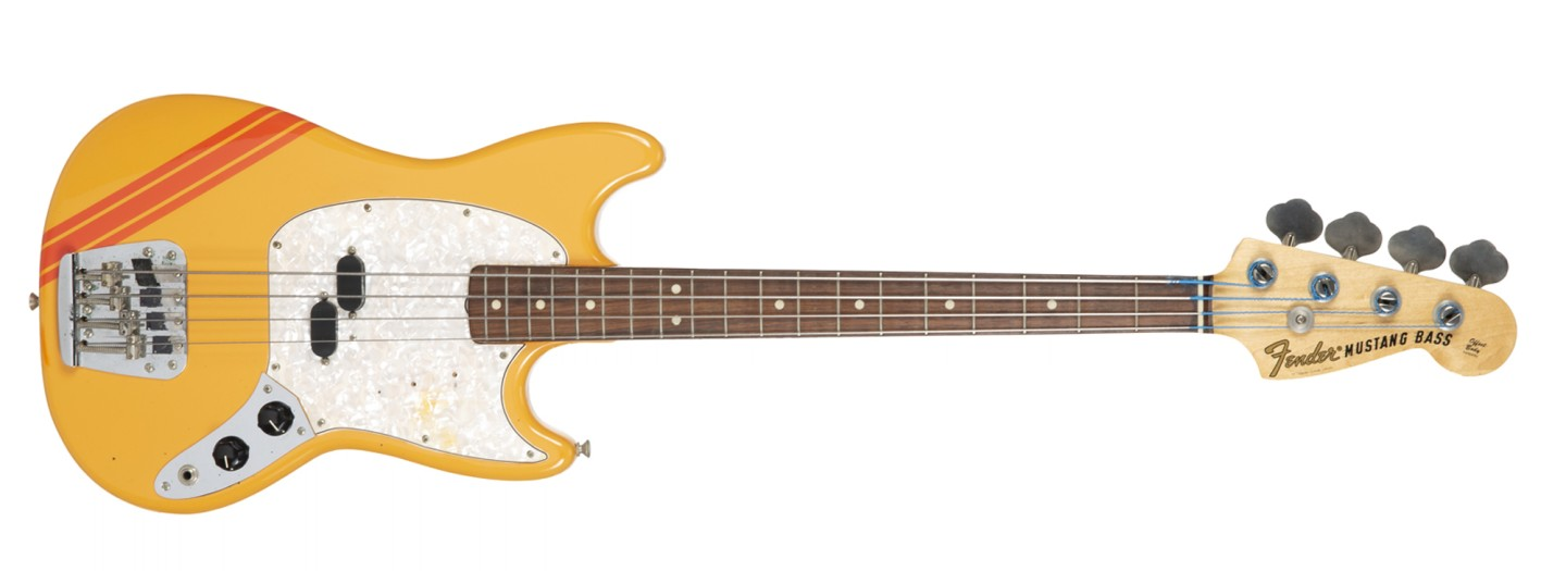 Bill Wyman's 1969 Fender Mustang Bass Competition Orange finish serial