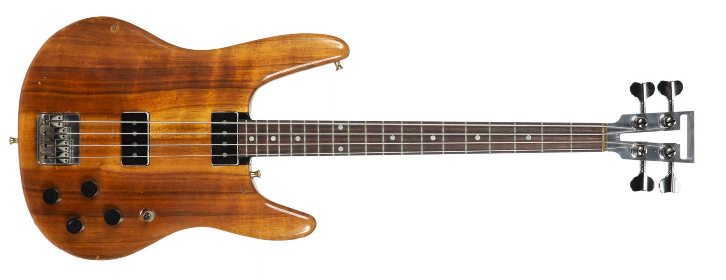 Bill Wyman's 1978 Travis Bean Custom Short Scale Bass