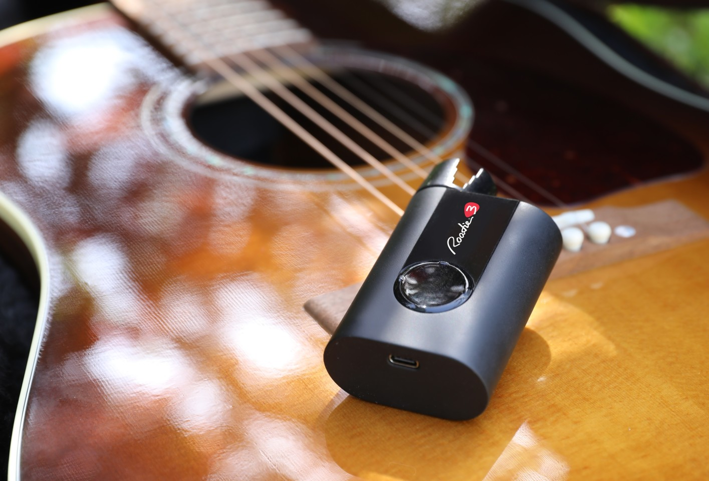 The Roadie 3's peg turner has been redesigned to accommodate more stringed instruments - including electric, acoustic, classical and steel guitars, 7, 8 and 12-string guitars, ukuleles, banjos, and mandolins