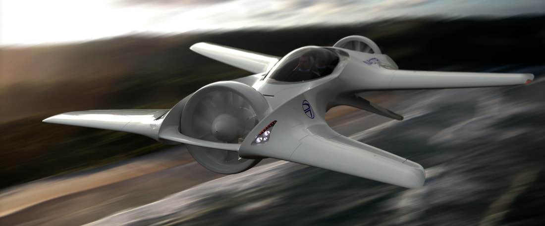 The DR-7 is a flying car being developed by DeLorean Aerospace