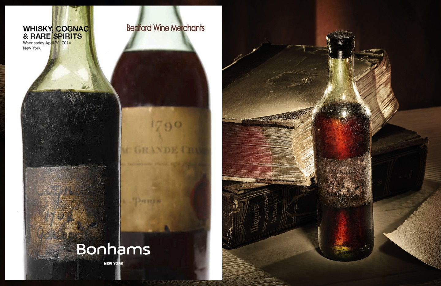 This small bottle of 1762 Gautier Cognac was auctioned by Bonhams in New York on April 30, 2014, selling to an online bidder for a final price of $59,500.