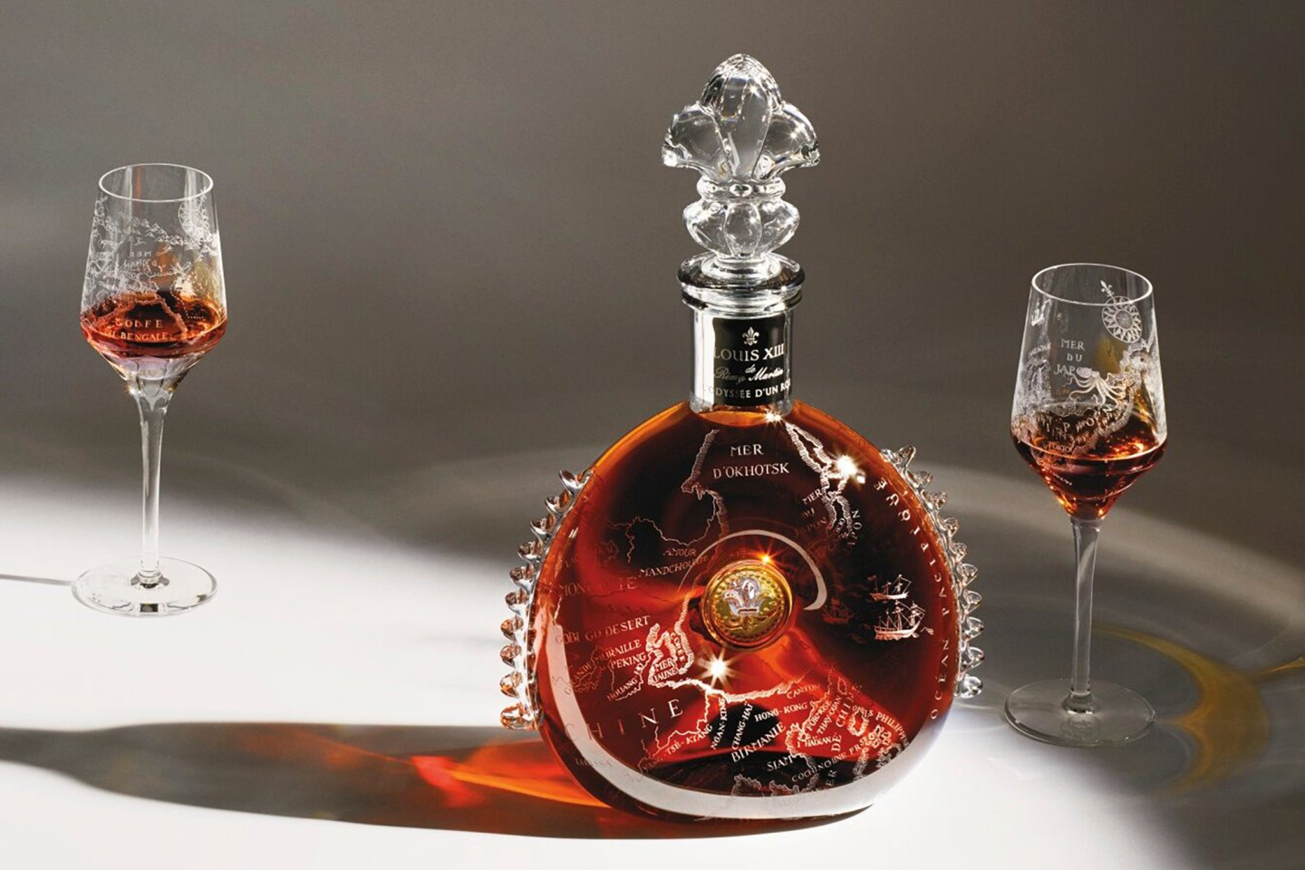L'Odyssée D'un Roi (Journey of a King) by Louis XIII Cognac sold three versions of this decanter in 2016 via Sotheby's