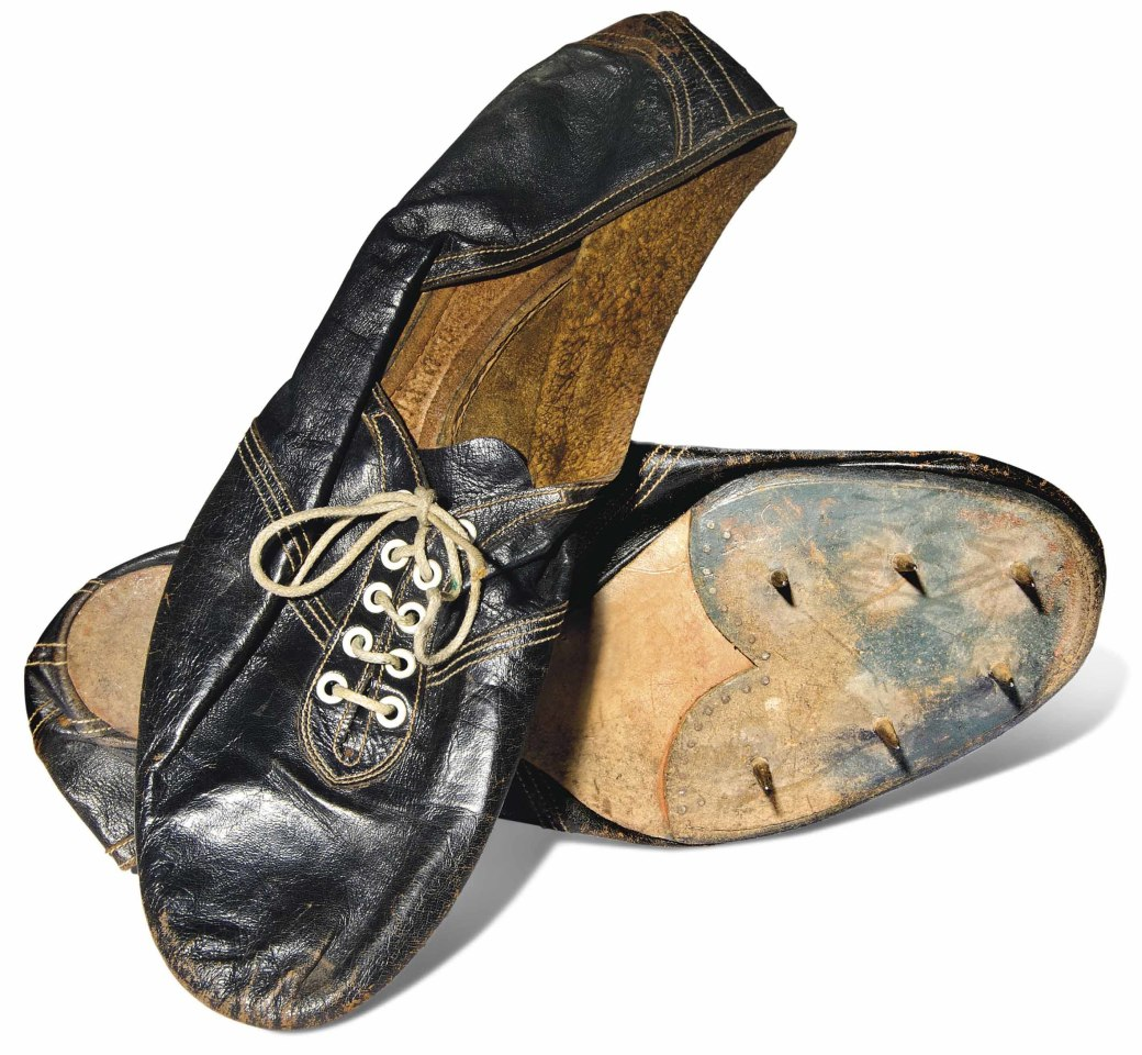 """Breaking the four-minute-mile barrier was a milestone that many thought was slightly beyond human capability. Once it had been done (by Roger Bannister wearing these shoes in 3:59.4 on May 6, 1954), and the barrier broken, it was done repeatedly from that point forth. It has since been broken by over 1,400 male athletes, and the record for """"the mile"""" currently stands at 3:43.13."""