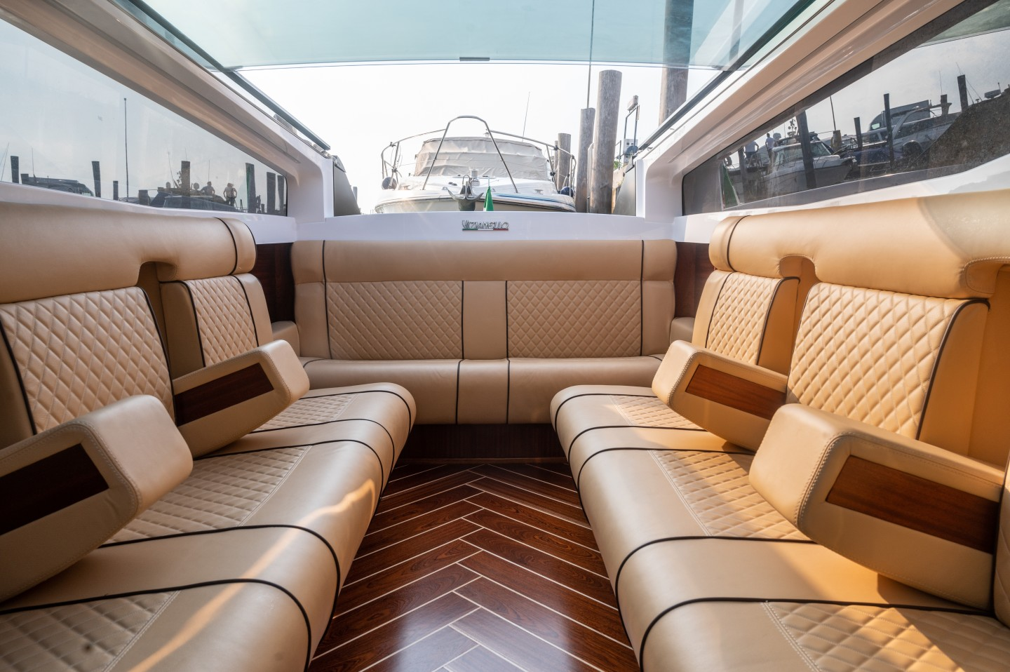 The luxurious Thunder seats up to 14 passengers